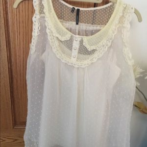 Maurices dress top cream top